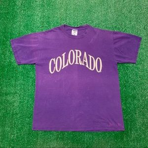 Vintage Colorado Tourist Faded Spellout T Shirt